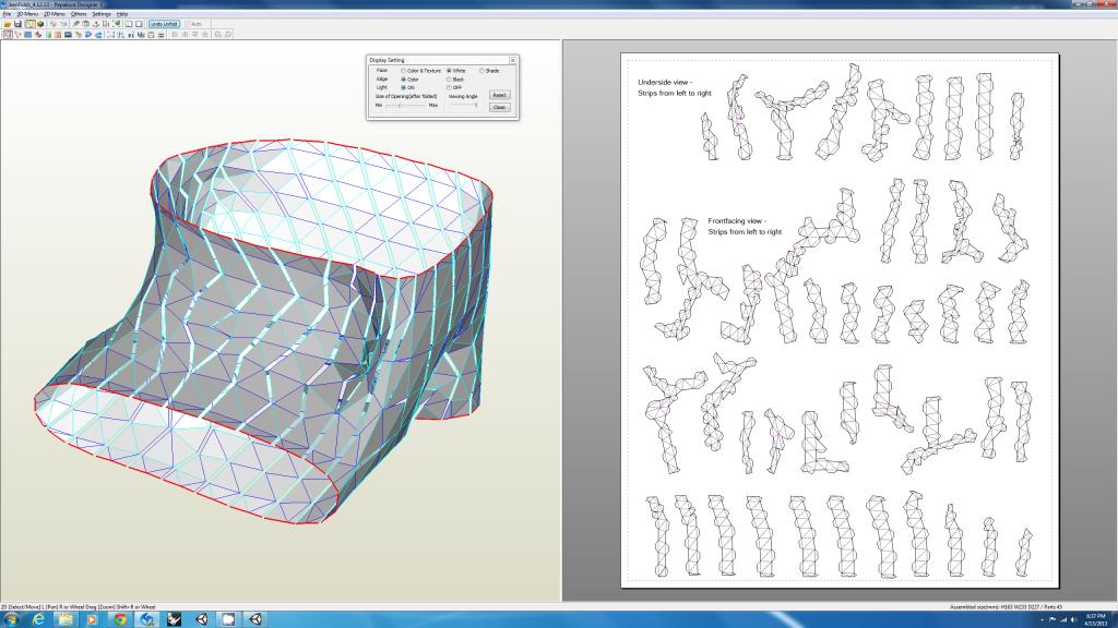 Parametric Pepakura unfold